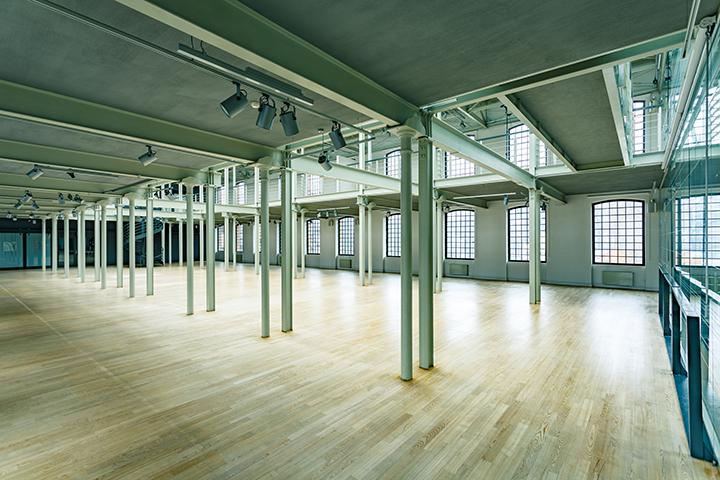 Modern Warehouse Interior With Windows